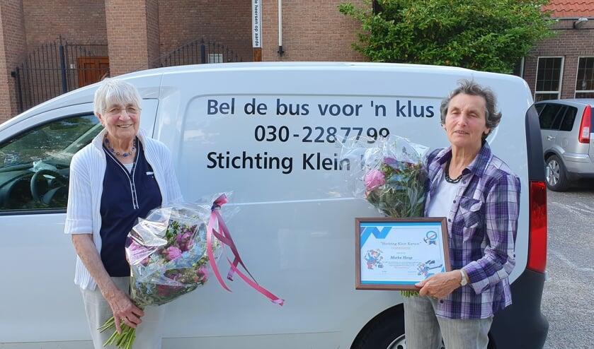 Na jarenlang vrijwilliger te zijn geweest zetten Wil en Mieke een punt achter hun werk voor Stichting Klein Karwei.