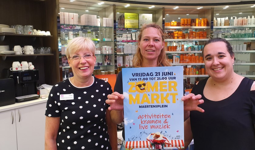 Jannie van Rossum, Laura van Dordt en Natasja Jonkhart zien uit naar een gezellige zomermarkt
