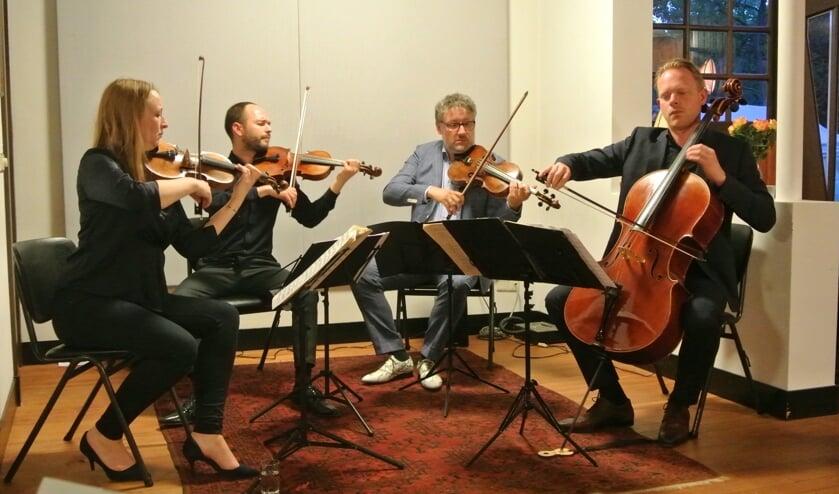 Met hun gloedvolle spel en vlotte presentatie zijn de leden van het Matangi Quartet boegbeelden van een nieuwe generatie klassieke musici. (foto Frans Poot)