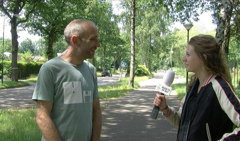 Erik den Hartog in interview met Nadia Maas. (foto Jan-Gerrit van Wyhe)