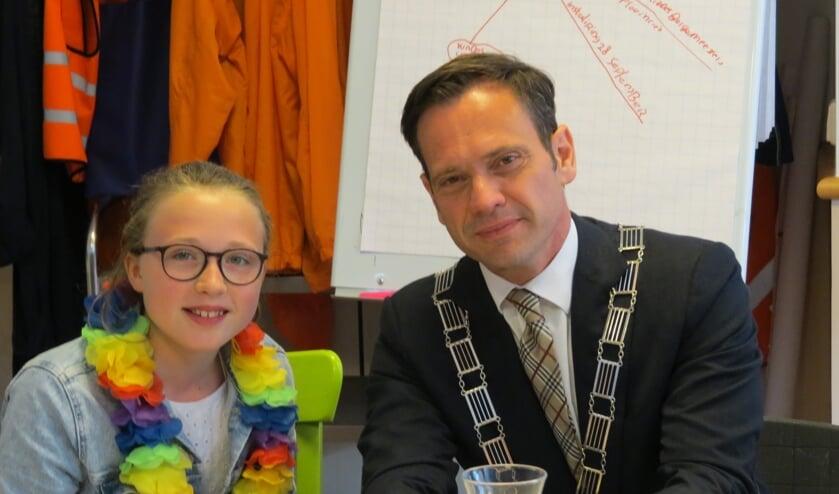 Burgemeester bezoekt Julianaschool