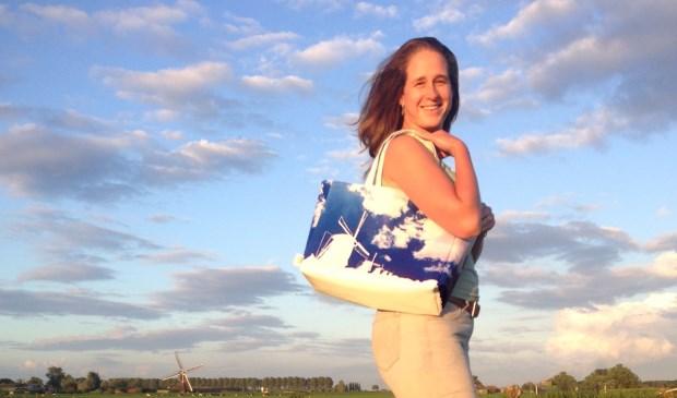 • Lisanne Addink met de Molenshopper.