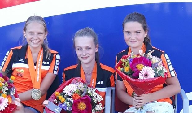 • Michelle de Blij (rechts) van L'Ammerzo maakt deel uit van het winnende triplette.