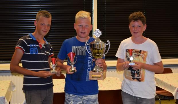 De prijswinnaars, met v.l.n.r. Corné Passchier (3e prijs), William Verheij (1e prijs) en Laurens Vreeken (2e prijs).