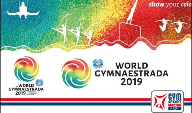 • Het affiche van de Gymnaestrada.