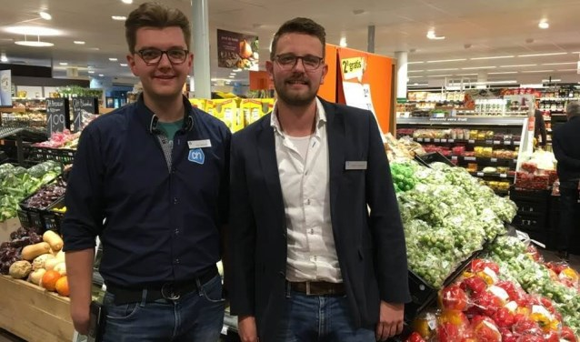 • Max (l.) en Sander Goossens van Albert Heijn Vianen.