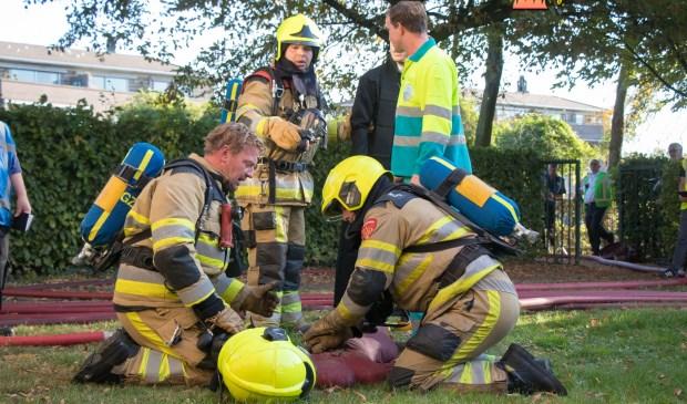 • De brandweer probeerden de noodsituatie zo goed mogelijk op te lossen.