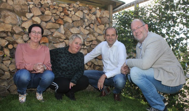 • V.l.n.r. Marina Boonekamp, Sandra Doddema, Dietward Bruin en Johan Boonekamp.