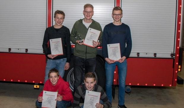 • Op de foto v.l.n.r. beneden: Ruben van der Linden en Martijn Speijer, v.l.n.r. boven: Bart Oudenaarden, Jurgen Versteeg en Thomas Nagel
