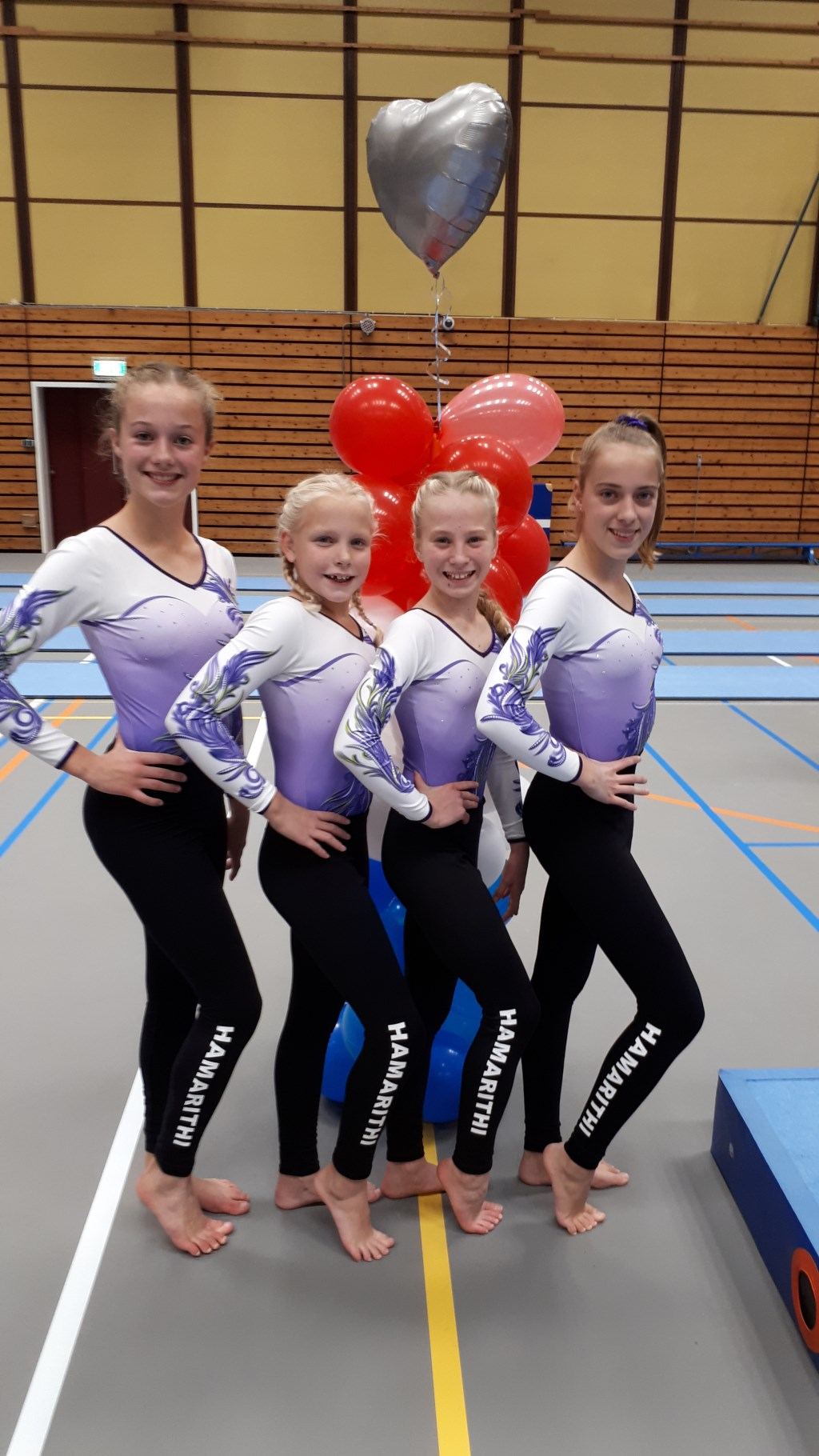• Valérie Brandsma, Janinka Egas, Hannah van Boggelen en Nayinthe van den Heuvel. Foto: aangeleverd © Bommelerwaard