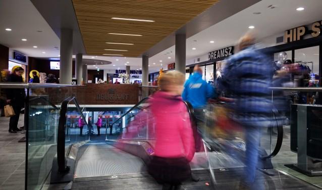 • Het overdekte winkelcentrum in Kerkdriel.
