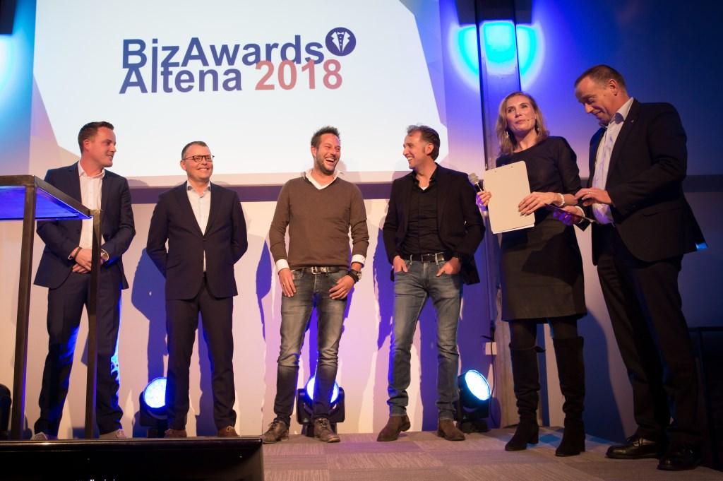 De genomineerden voor de ondernemer van het jaar: Werkina, PT Creations en De Rooy Hoveniers. Foto: Marijke Verhoef / Het Kontakt © Het Kontakt