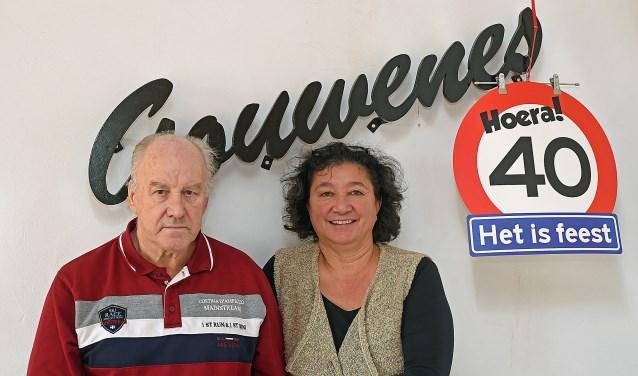 • Wim Bruls en Myrna Ouderkerk zien de toekomst van Gouwenes zonnig in.