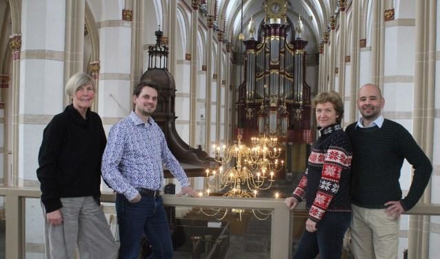 • V.l.n.r. Janny Lagendijk, Hugo Bakker, Irene Maessen en Martijn Los.
