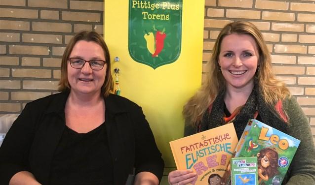 Talentbegeleiders Inge van den Berg en Alie Boll.