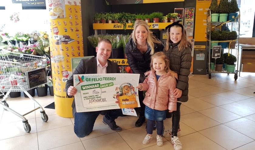 mila janse wint dagje uit voor hele gezin bij jumbo hedel