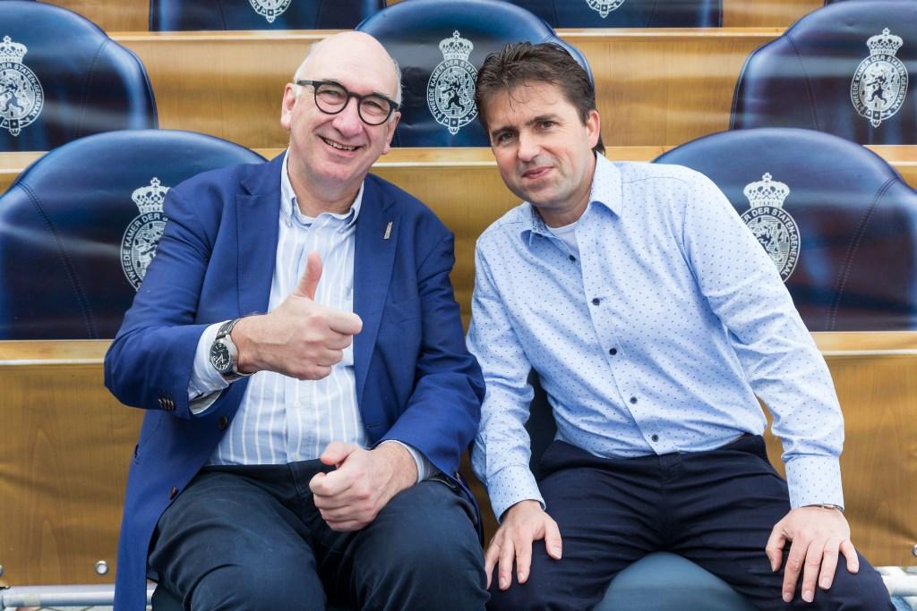 • Gerard van den Anker (rechts) stond vorig jaar net als oud-burgemeester Albert van den Bosch van Zaltbommel op de kandidatenlijst voor de Tweede Kamerverkiezingen. Archieffoto: Lya Cattel © Bommelerwaard