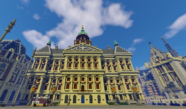 • Paleis op de Dam in Minecraft.