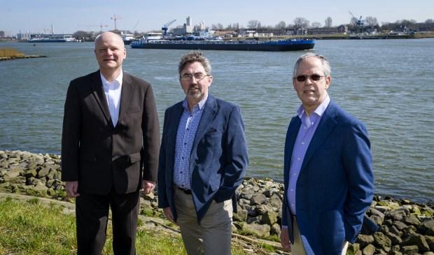 Erik Groeneweg, Ruud Boele en oud-burgemeester Kees de Bruin.