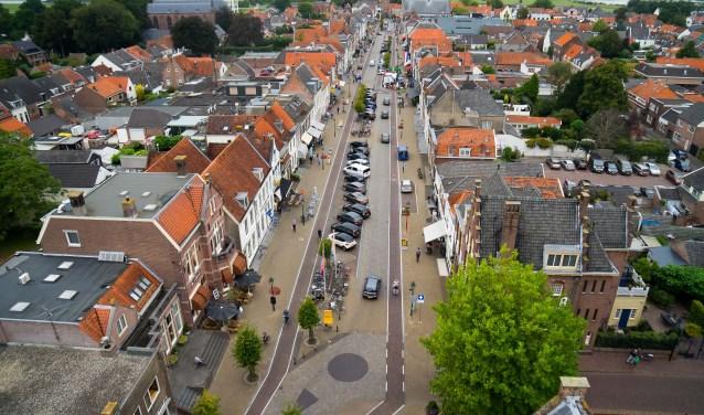 • Viaanse Voorstraat vanuit de lucht.