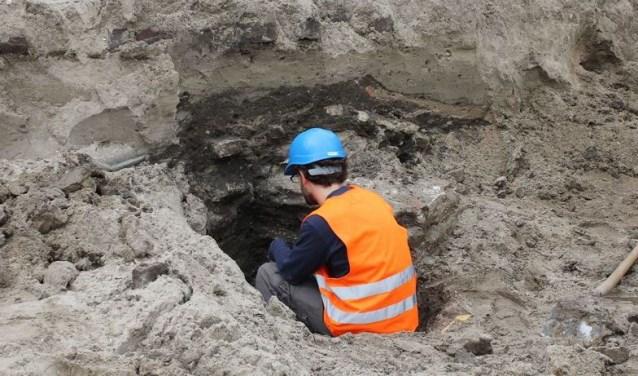 • Deze foto is gemaakt bij een opgraving in Leerdam.