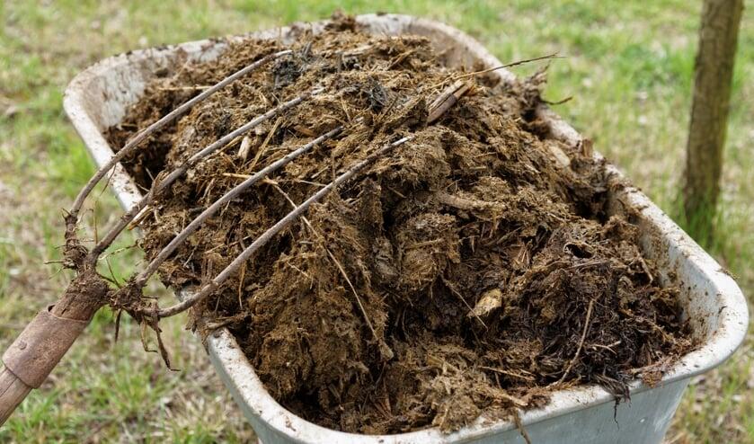 • Doordat regenwater van de mesthoop liep, kwamen meststoffen in de sloot terecht.