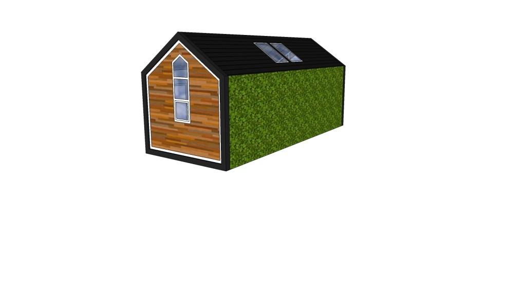 • Ontwerp voor het Tiny House van Linda. Foto: Aangeleverd © Alblasserwaard