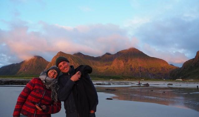 • Liz Geurts en Jos van Oosten werden gegrepen door de schoonheid van de Lofoten.