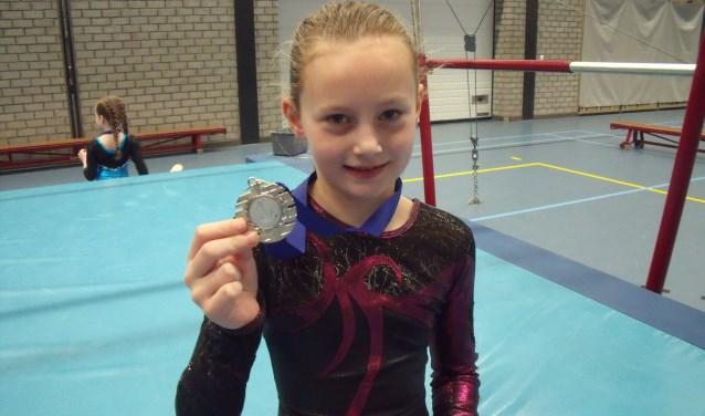 • Melissa van Woerkum won knap een zilveren medaille.