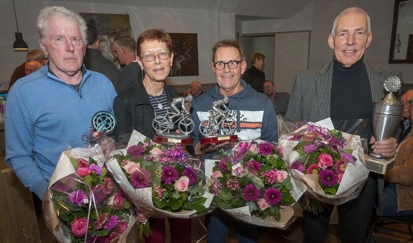 • Carla van Bohemen tussen haar collega-kilometervreters.