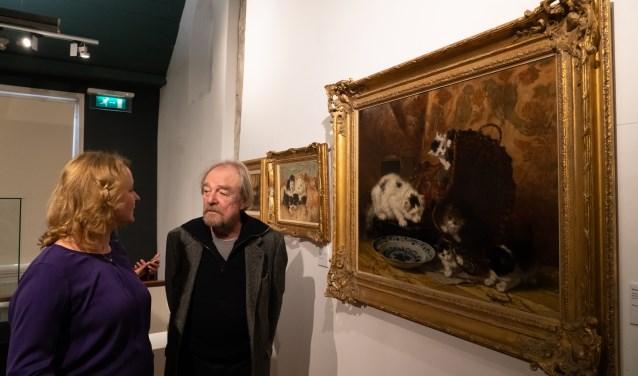 Midas Dekkers opent expositie 'Miauw', Katten in de kunst Foto: Nico van Ganzewinkel © Vianen