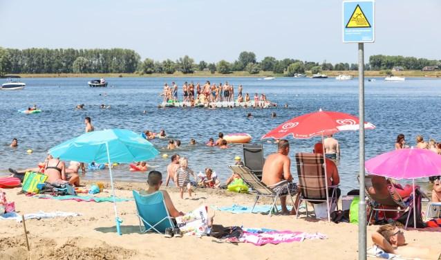• Tijdens de hittegolf van afgelopen zomer was het elke dag behoorlijk druk op het recreatieterrein.