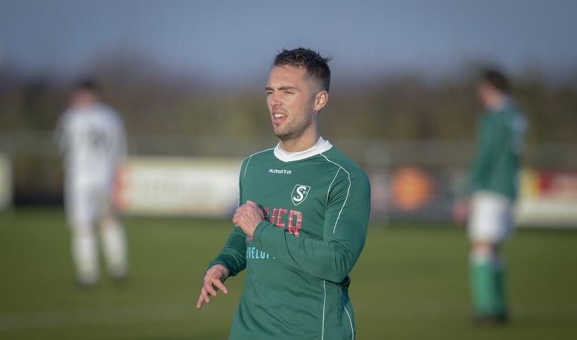 • Ivo Sluis in de (met 1-3 verloren) wedstrijd tegen VEP.