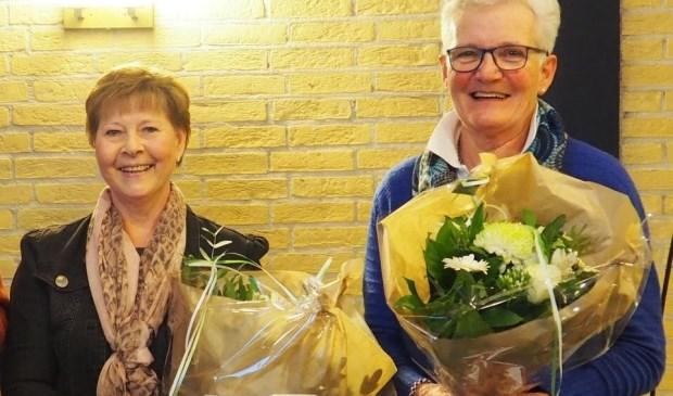 • Ina 't Jong (links) en Lia van de Boogaard.