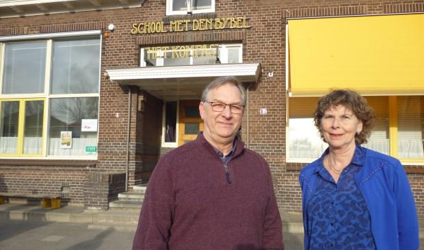 • Johan van Heusden en Nel Verhulst voor hun school.