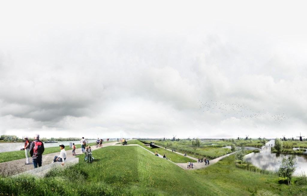 Het ontwerp van Lekdijk Park.  © Klaroen