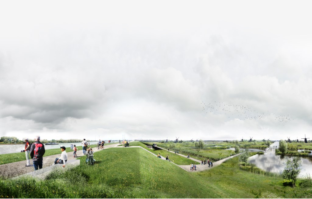 Het ontwerp van Lekdijk Park.  © Alblasserwaard