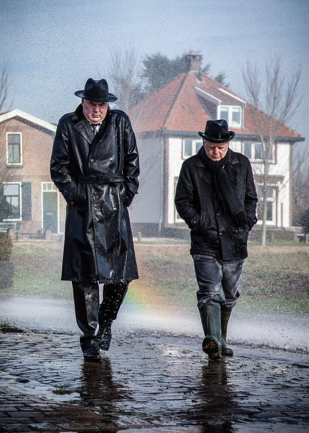 Burgemeester Brouwers en wethouder Mourik. Foto: Marijke Verhoef © Alblasserwaard