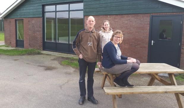 • Het team, met v.l.n.r. Maarten, Denise en Els den Ouden.