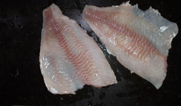 De in beslag genomen visfilet.