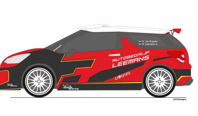 De nieuwe Citroën DS3 R5 EVO3 van Rally Team Leemans.