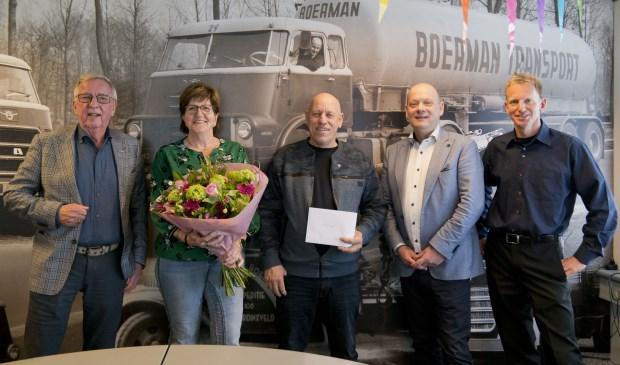 • Teus Boerman, Mar Vogel, Ruub Vogel, Wim Nienhuis en Conrad Boerman (v.l.n.r.).