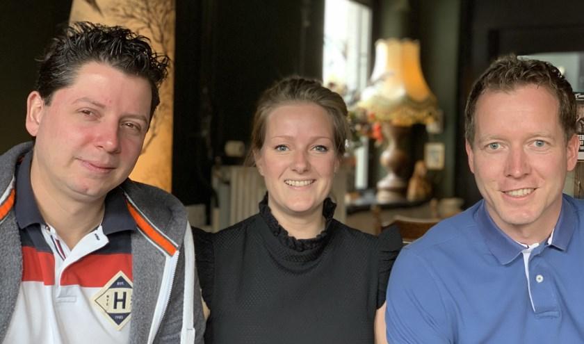 • De initiatiefnemers (vlnr): Marco Bijl, Evelien Jansen en Wilco den Hartog.
