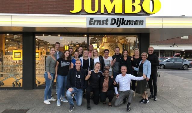 • Het Roparunteam van Jumbo Ernst Dijkman met Nelli Cooman.