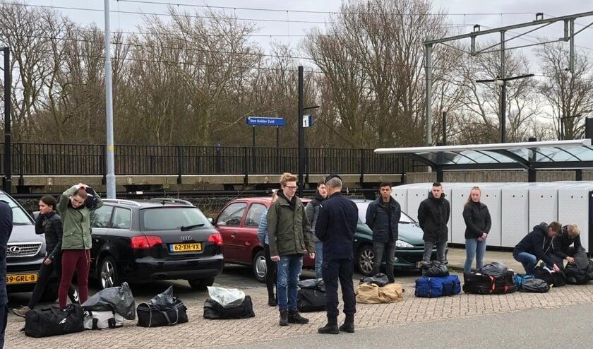 Lars van Oostrum op station Den Helder Zuid.
