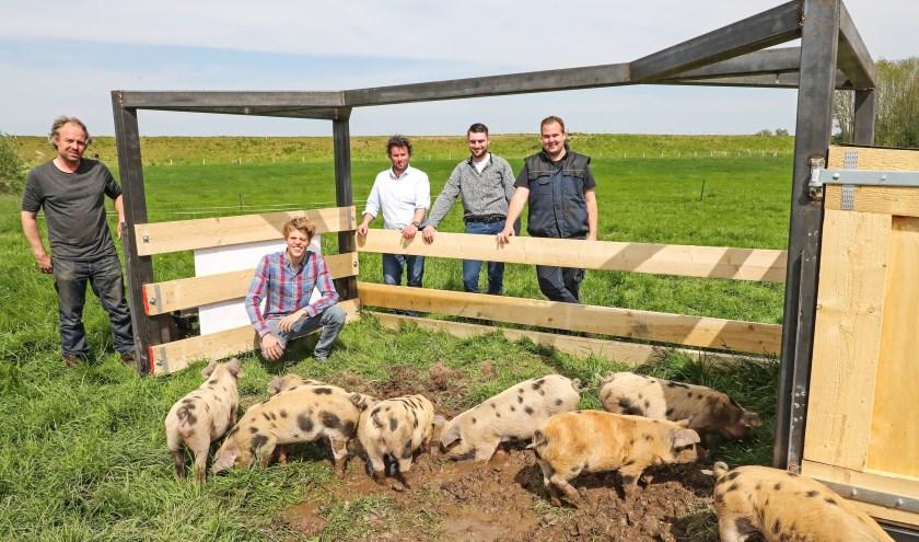 Varkenstractor voor Bommels Bakhuys