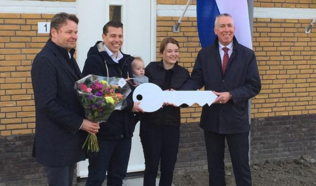 • Vlnr. Frank Wigbers (BPD), Martijn Ivens, Kirsten van den Heuvel en wethouder Gijs van Leeuwen.