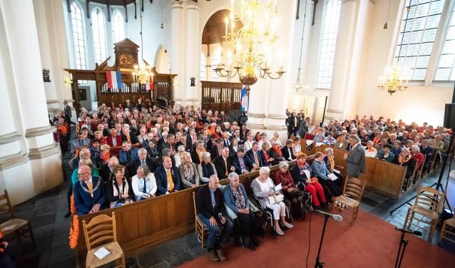 • De volle Grote Kerk tijdens het concert vorig jaar.