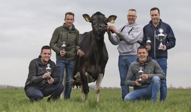 Team De Liefhebbers met Wouter de Bruin, Joost Versluis, Roel van der Wel en Gerrit de Groot, won de Champions League veebeoordelen Zuid-Holland.