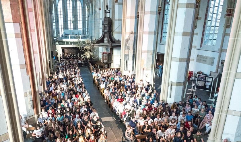 • De Sint-Maartenskerk vorig jaar tijdens een diploma-uitreiking.